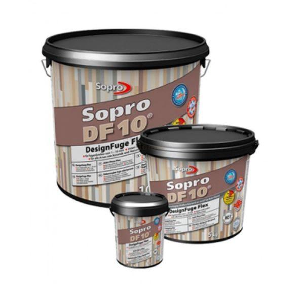 Voegmortel Sopro DF 10 Flexibel basalt kleur 64 a 5kg
