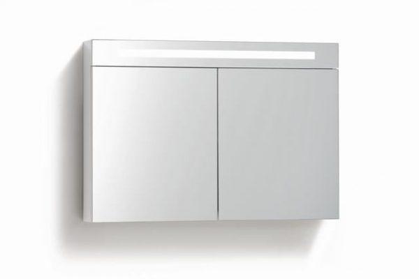 Spiegelkast 80 met LED verlichting Wit