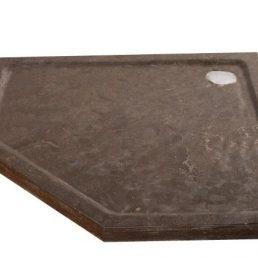 Natuursteen Douchebak Vijfhoek 90x90