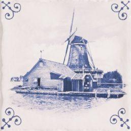 Delfts Blauw Antiek Tegel 15x15 cm
