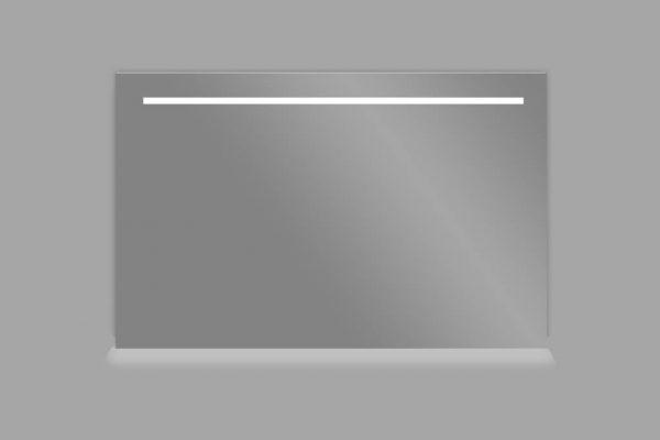 Aluminium spiegel met LED verlichting en onderverlichting 120
