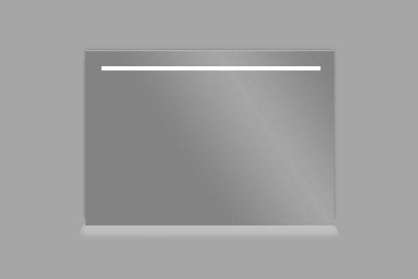 Aluminium spiegel met LED verlichting en onderverlichting 80