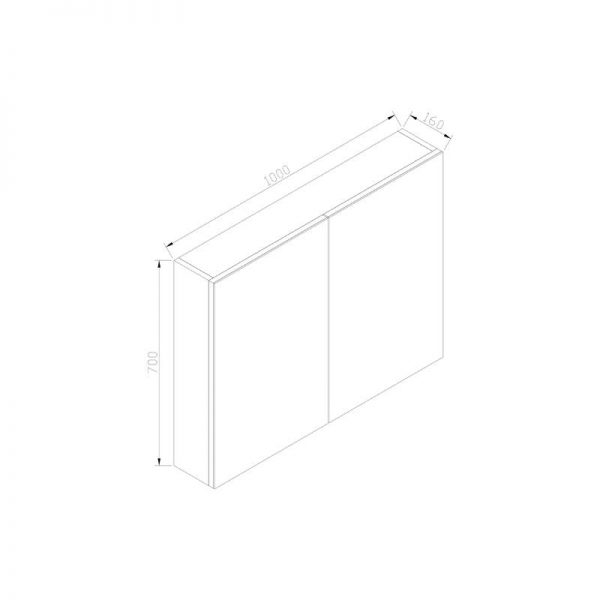 Spiegelkast zonder verlichting 100 wit