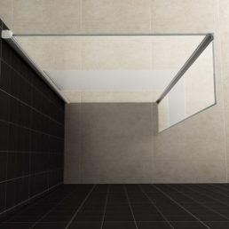 Wiesbaden zijwand + hoekprofiel 30x200 cm - 10mm NANO gedeeltelijk matglas