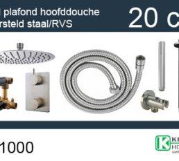 Wiesbaden one-pack inbouwthermostaatset rond type 201 GS (20cm)