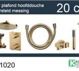 Wiesbaden one-pack inbouwthermostaatset rond type 401 GM (20cm)