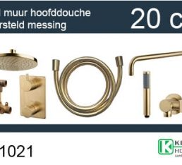 one-pack inbouwthermostaatset rond type 402 GM (20cm)