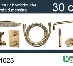 one-pack inbouwthermostaatset rond type 404 GM (30cm)