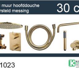 Wiesbaden one-pack inbouwthermostaatset rond type 404 GM (30cm)
