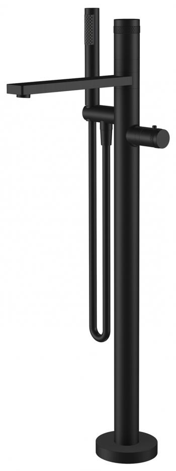 Wiesbaden Sphere staande badthermostaat compleet mat-zwart