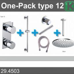 one-pack inbouwthermostaatset type 12 (30cm)