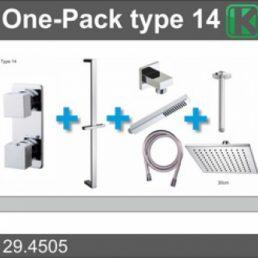 Wiesbaden one-pack inbouwthermostaatset type 14 (30cm)