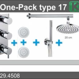 one-pack inbouwthermostaatset type 17 (20cm)