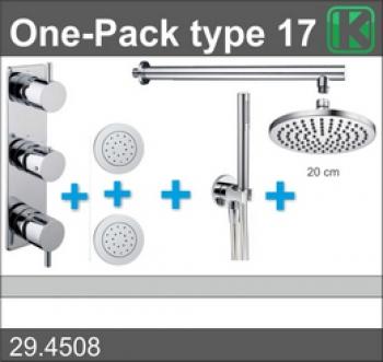 Wiesbaden one-pack inbouwthermostaatset type 17 (20cm)