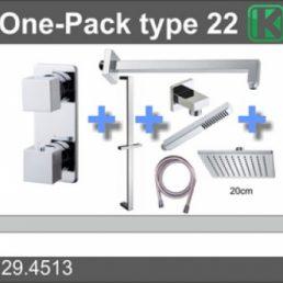 one-pack inbouwthermostaatset type 22 (20cm)