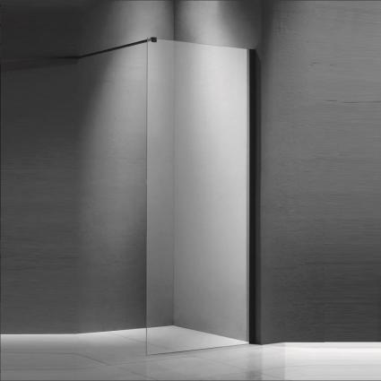 inloopdouchewand Roka 90x200 cm - Mat zwart