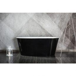 Design ligbad Riga zwart 150 - Acryl