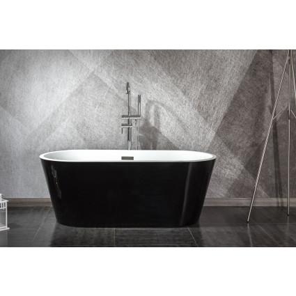 Design ligbad Teika 160 zwart - Acryl