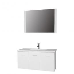 Badkamemeubel Alva 100 cm - onderkast/wastafel/spiegel