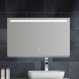 Aras dimbare LED condensvrije spiegel 1000x600