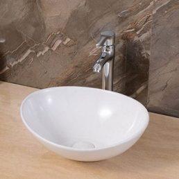 Waskom Opbouw Lorens Ovaal 40x33x14.5cm Wit