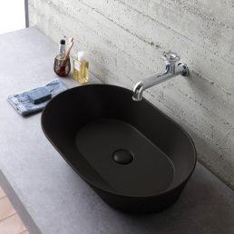 Mees Design Opbouw Waskom Ovaal Mat Zwart