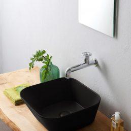 Mees Design Opbouw Waskom Vierkant Mat Zwart