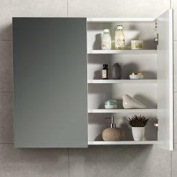 Spiegelkast Tieme in hoogglans wit 80x70x16cm