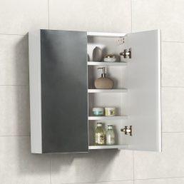 Spiegelkast Tieme in hoogglans wit 60x70x16cm