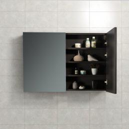 Spiegelkast Tieme in mat grijs 100x70x16cm