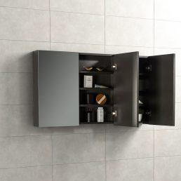 Spiegelkast Tieme in mat grijs 120x70x16cm