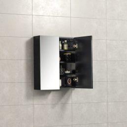 Spiegelkast Tieme in mat zwart 60x70x16cm